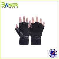 Fashion gym leather custom weight lifting gloves wholesale work gloves