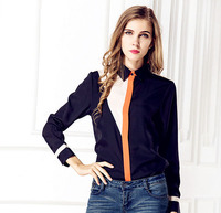 New design elegant long sleeve model woman blouse for uniforms