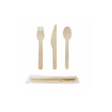 Eco biodegradable wooden fork spoon knife cutlery for eating