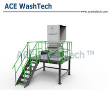 PE PP waste plastic recycling machine / film washing line