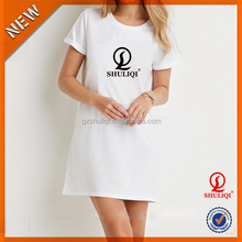 Clothes Shuliqi factory women clothing latest casual dress designs simple fashion teenage girls t shirt dress