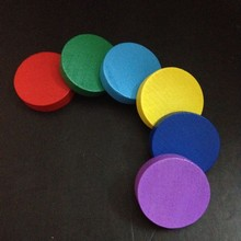 "Mixed Color 1""Round Wood Tokens board game pieces,Kids toy Wood Game Chips Token"