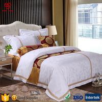 Whosale 4pc Full Size Egyptian Cotton Bed Sheet Set, Microfiber Jacquard Bedding