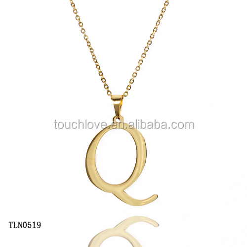 stainless steel gold plated fashion letter p pendant jewelry