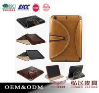 Flip leather cover for ipad 2/3/4 fashion design leather cover for ipad 2/3/4
