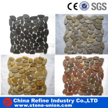 Multi-color flat pebble tile for sale