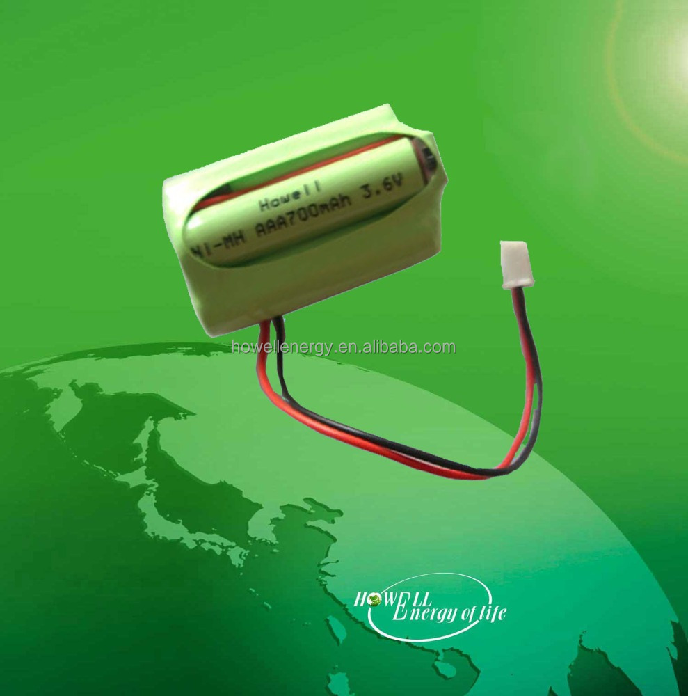 best selling 3.6V AAA 700mah nimh rechargeable battery pack