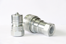 Poppet valves female & male threaded hydraulic quick connect couplings