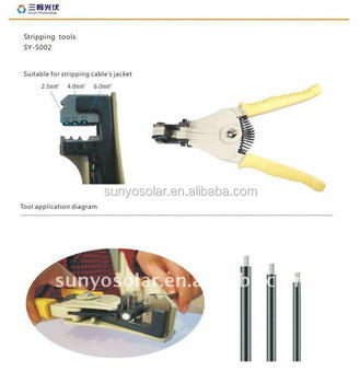 2017 Sunyo solar MC4 photovoltaic tools for locking turncap and unlocking 4.0/2.0 connectors