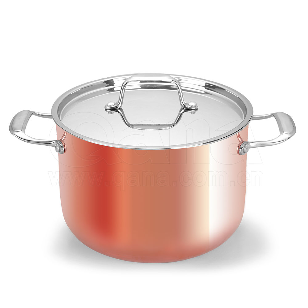 high quality 12pcs copper cookware set /cooking pot