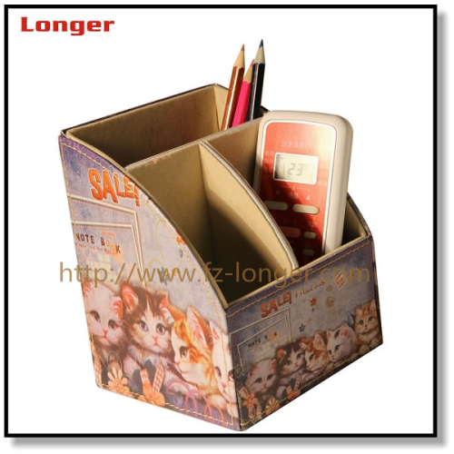 Multifunctional Faux Leather Desk Organizer Case Office Desktop Stationery Organizer