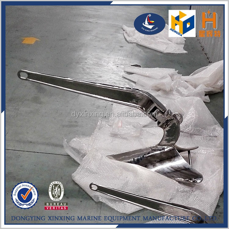 Marine supplies stainless steel hinged plow anchor for sale