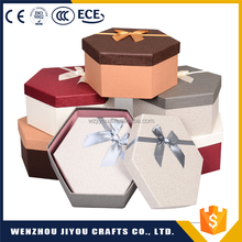 Polygon Print Gift Packaging Brown Kraft Paper Boxes