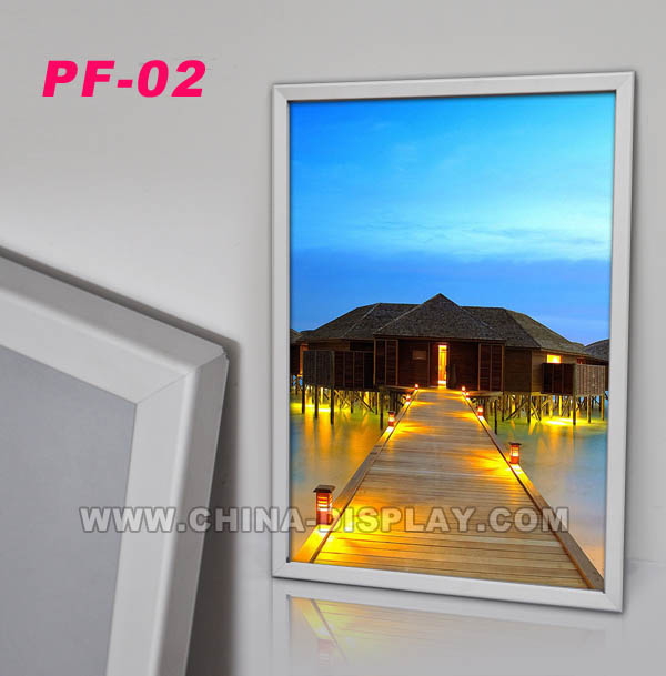 Promotional product snap poster display Aluminum open front picture frame