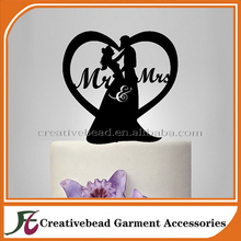 New design acrylic wedding cake toppers for romantic wedding party cake decoration