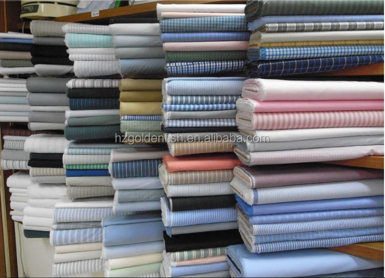 High quality stripe yarn dyed cotton shirt fabric for business shirt