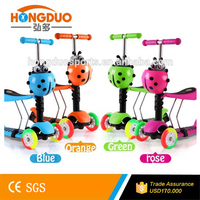 Kids toys bike scooter light up wheel kick scooter with optional color