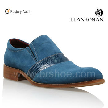 Slip-on men dress leather shoe flat outsole shoes for men mexico design