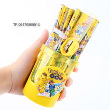 cartoon stationery set pokemon pencil ruler sharpener eraser