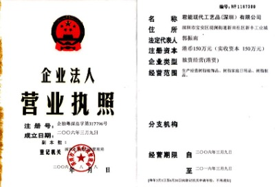 Registed certificate