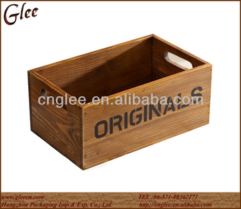 Antique style wooden crate buy wooden crate cheap wooden for Where do i find wooden crates