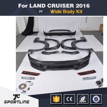 PP W Style Wide Body Kits For Toyota Land Cruiserf 2016 UP
