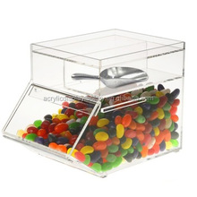Yageli Clear acrylic candy dispenser/plexiglass candy storage box for supermarket