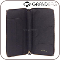 guangzhou supplier wholesale cowhide leather passport cover passport case passport holder with card slots