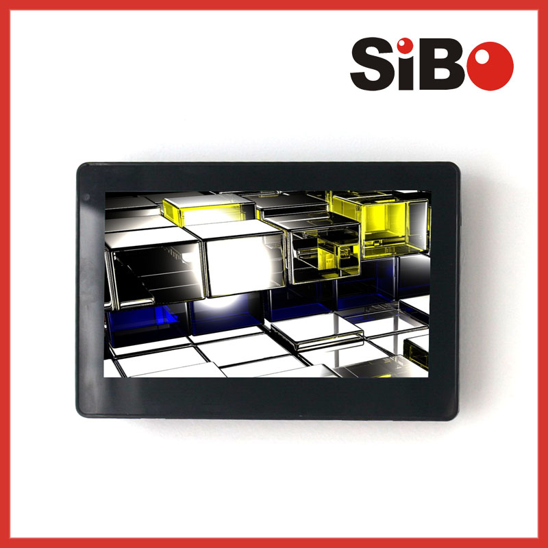 wall mounting touchscreen advertising player with wifi 3G android optional