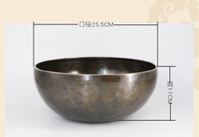 high quality shakyamuni buddha and mantra carved singing bowl