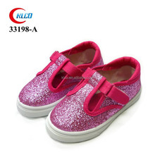 cheap wholesale custom brand red glitter upper kids shoe