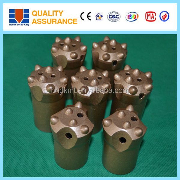 Long skirt or short skirt 34mm button drill bit