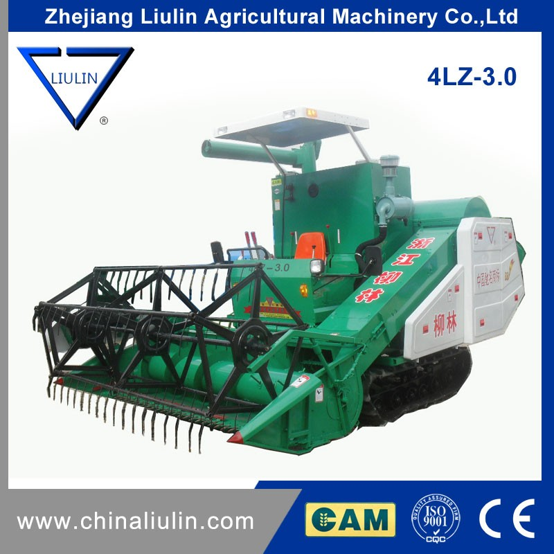 China Factory Full-feeding Rice wheat Combine Harvester 4lz-3.0,High Quantity Agricultural Equipment For Sale
