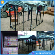 cheap indoor dog kennels with top cover / wire mesh fencing dog kennel