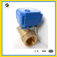 CWX-15N Brass Mini Motorized valve for water treatment, hvac, auto control