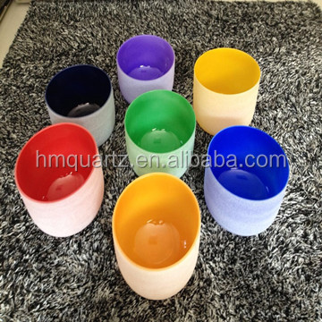 "11""classical quartz crystal singing bowls wholesale chakra set"