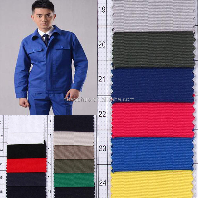 custom made pure color dyed workwear fabric cotton fabric for uniform china