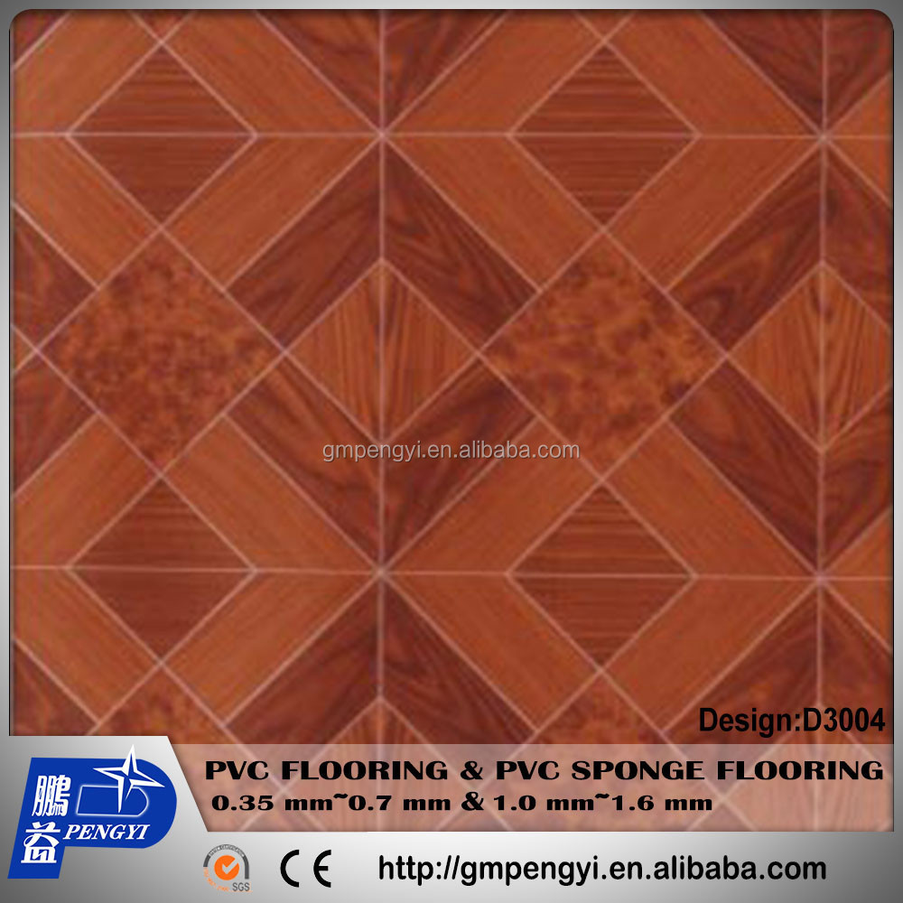 Manufactory PVC Vinyl flooring roll high tear waterproof