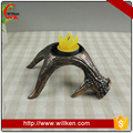 Hotel lobby decoration silver antler candler holder