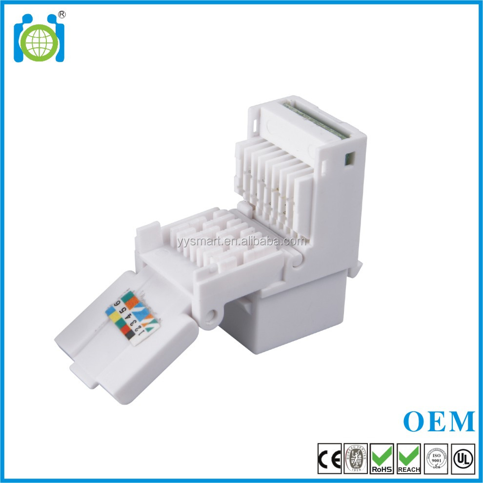 Short delivery tooless rj12 8p8c modular cat3 cat5e utp female keystone jack