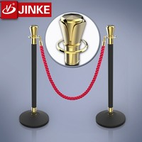 Concrete Rubber Base Crowed Traffic Bollard Rope Barrier