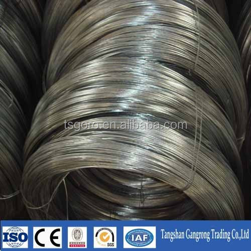 high tensile strength galvanized steel wire price from Tangshan