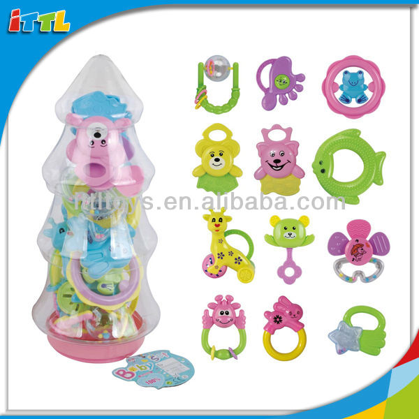 A653897 Christmas Tree Bottle Baby Rattle Toys 12PCS ABS Rattle Toy