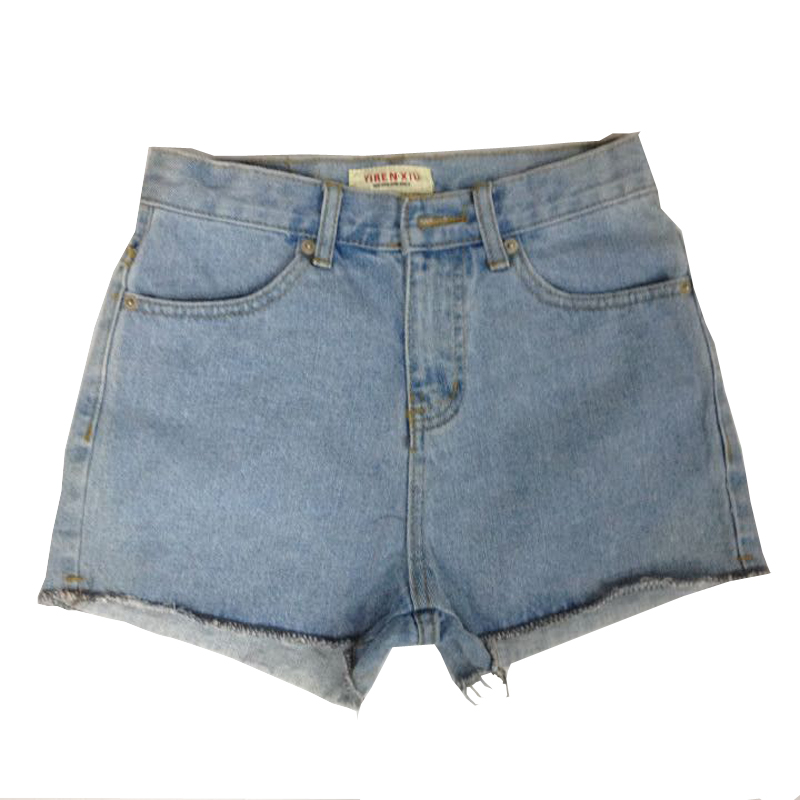 Women jeans denim shorts hot pants 100% cotton jeans manufacturers