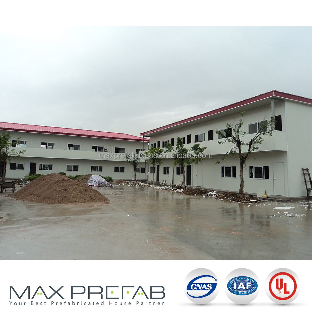 Pre-painted light-steel SHS frame T modular prefabricated house germany