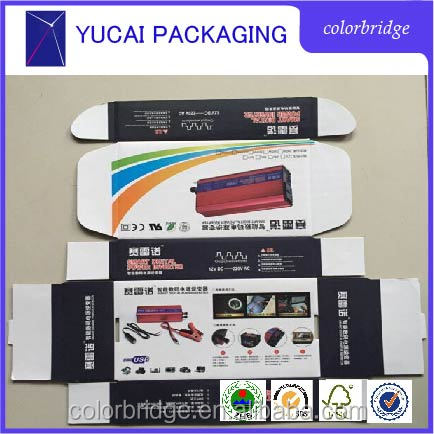 Cheap custom matt black paper packaging corrugated box for mailing with Computer products
