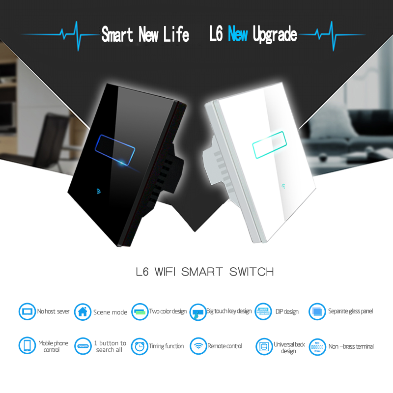 Remote Control Home lights/curtain/fan/AC Smart Switch Smart Home Controller from Lanbon Hi-Tech