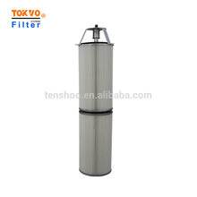 Screw type polyester fibre industrial air cartridge dust collector filter