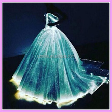 Led Optical Fiber Luminous Wedding Dress And Evening Party Dress