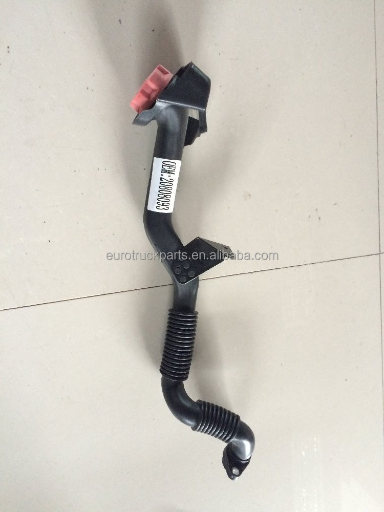 European truck auto parts lubrication system OEM 20808093 oil filler pipe for volvo exhaust pipe pvc pipe